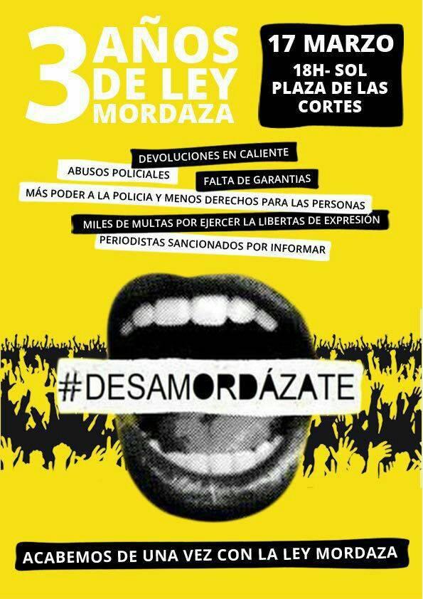 cartel manifestacion ley mordaza