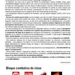 DECLARACIÓN DEL BLOQUE COMBATIVO Y DE CLASE  Unidad SI, ¡para luchar!